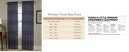"Homewear Chevron Pick-Stitch 54"" x 63"" Panel"