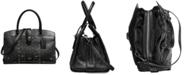 COACH Bandana Rivets Mercer Satchel 30 in Polished Pebble Leather