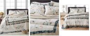 Martha Stewart Collection Embroidered Wreath Twin Bedspread, Created for Macy's