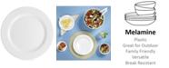 "Q Squared Diamond 10.5"" Round Melamine Dinner Plate, Set of 4"