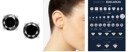 Macy's Black Diamond Stud Earrings (1 ct. t.w.) 14k White or Yellow Gold