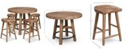 Furniture Brewing Collection, 5-Pc. Furniture Set (Gathering Round Table & 4 Hops Saddle Seat Gathering Stools)