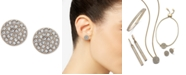 DKNY Pavé Disc Stud Earrings, Created for Macy's
