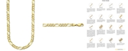 """Italian Gold Figaro Link 26"""" Chain Necklace in 14k Gold"""