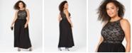 Morgan & Company Trendy Plus Size Lace Dress