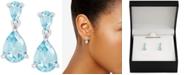 Macy's Blue Topaz Double Drop Earrings (2-1/2 ct. t.w.) in Sterling Silver