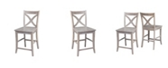 """International Concepts Cosmo Counterheight Stool - 24""""Seat Height - Washed Finish"""