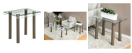 Furniture of America Karnette Glass Top End Table