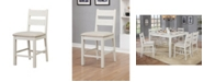 Furniture of America Gwen Weathered White Pub Chair (Set of 2)