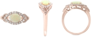 EFFY Collection EFFY® Opal (5/8 ct. t.w.) & Diamond (1/3 ct. t.w.) Ring in 14k Rose Gold