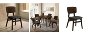 Furniture of America Jaykub Quilted Seat Dining Chair (Set of 2)