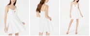 Trixxi Juniors' Textured Tie-Front Fit & Flare Dress