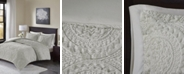 Madison Park Ava Full/Queen Medallion Ultra Plush 3 Piece Comforter Mini Set