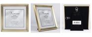 "Lawrence Frames Antique Brass Picture Frame - Bead Border Design - 5"" x 5"""
