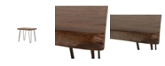 "World Interiors Grandby Acacia Wood Side Table in Walnut Finish - 26"" x 24"" x 22"""