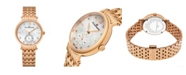 Stuhrling Alexander Watch AD201B-03, Ladies Quartz Small-Second Watch with Rose Gold Tone Stainless Steel Case on Rose Gold Tone Stainless Steel Bracelet