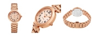 Stuhrling Alexander Watch AD203B-05, Ladies Quartz Date Watch with Rose Gold Tone Stainless Steel Case on Rose Gold Tone Stainless Steel Bracelet