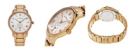 Stuhrling Alexander Watch A102B-04, Stainless Steel Rose Gold Tone Case on Stainless Steel Rose Gold Tone Bracelet