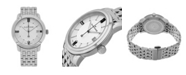 Stuhrling Alexander Watch A111B-04, Stainless Steel Case on Stainless Steel Bracelet