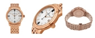 Stuhrling Alexander Watch A111B-08, Stainless Steel Rose Gold Tone Case on Stainless Steel Rose Gold Tone Bracelet