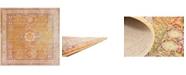 Bridgeport Home Malin Mal1 Gold 8' x 8' Square Area Rug