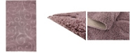 Bridgeport Home Malloway Shag Mal1 Violet 4' x 6' Area Rug