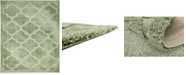 Bridgeport Home Filigree Shag Fil2 Green 8' x 10' Area Rug
