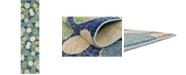 "Bridgeport Home Crisanta Crs6 Navy Blue 2' 7"" x 10' Runner Area Rug"