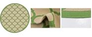 Bridgeport Home Pashio Pas5 Green 6' x 6' Round Area Rug