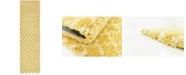 """Bridgeport Home Fazil Shag Faz4 Yellow 2' 7"""" x 10' Runner Area Rug"""