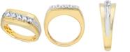 Macy's Men's Diamond Cluster Ring (3/4 ct. t.w.) in 10k Gold & 10k White Gold