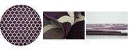 """Bridgeport Home Arbor Arb1 Purple 12' 2"""" x 12' 2"""" Round Area Rug"""