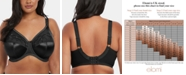 Elomi Cate Full Figure Underwire Lace Cup Bra EL4030, Online Only