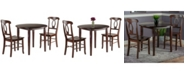 Winsome Clayton 3-Piece Drop Leaf Table with 2 Keyhole Back Chairs Set