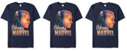 Marvel Men's Captain Marvel Pop Art Captain Posed Profile Short Sleeve T-Shirt