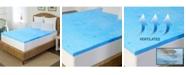 "Rio Home Fashions Arctic Sleep 2"" Marbleized Gel Memory Foam Topper - Twin"