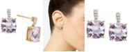 Macy's Pink Amethyst (5-5/8 ct. t.w.) & Diamond (1/20 ct. t.w.) Stud Earrings in 14k Rose Gold