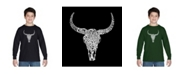 LA Pop Art Boy's Word Art Long Sleeve - Texas Skull
