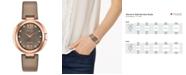 Citizen Eco-Drive Women's Capella Diamond-Accent Brown Leather Strap Watch 34mm