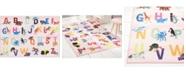 "Eric Carle Elementary Alphabet Decorative Pink 6'6"" x 9'5"" Area Rug"