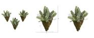 "Nearly Natural 8"" Sedum Succulent Artificial Wall Decor Plant, Set of 3"
