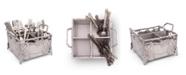Arthur Court Designs Aluminum Grapevine Flatware Silverware Caddy