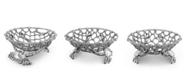 "Arthur Court Fruit Centerpiece Basket ""Crab and Net"" Ocean, Seacoast Aluminum Hand Polished"