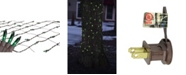 Northlight 2' x 8' Green Mini Tree Trunk Wrap Christmas Net Lights - Brown Wire