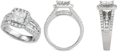 Macy's Diamond Princess Three Row Engagement Ring (2 ct. t.w.) in 14k White Gold