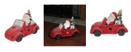 Northlight Santa Claus Driving Red Vintage Beetle With a Christmas Tree Table Top Decoration