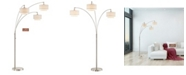 "Artiva USA Lumiere III 80"" LED Arched Floor Lamp Double Layer Shade with Dimmer"