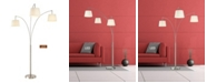 """Artiva USA Palumbo 84"""" LED Arched Floor Lamp with Dimmer"""