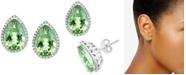 EFFY Collection EFFY® Green Amethyst (5-7/8 ct. t.w.) & Diamond (1/3 ct. t.w.) Stud Earrings in 14k White Gold