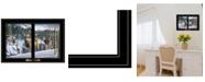"Trendy Decor 4U Morning View Deer by Kim Norlien, Ready to hang Framed Print, Black Window-Style Frame, 21"" x 15"""